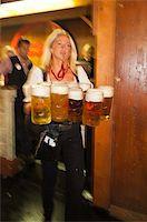 Serving beer at the Stuttgart Beer Festival, Cannstatter Wasen, Stuttgart, Germany, Europe Stock Photo - Premium Rights-Managednull, Code: 841-05846403
