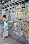 Woman looking at carvings, Borobudur, UNESCO World Heritage Site, Java, Indonesia, Southeast Asia, Asia Stock Photo - Premium Rights-Managed, Artist: Robert Harding Images, Code: 841-05846536
