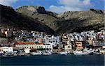 The town of Pothia seen from the sea, Kalymnos island, Dodecanese, Greek Islands, Greece, Europe Stock Photo - Premium Rights-Managed, Artist: Robert Harding Images, Code: 841-05846605