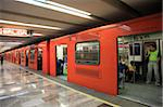 Metro, underground train station, Mexico City, Mexico, North America Stock Photo - Premium Rights-Managed, Artist: Robert Harding Images, Code: 841-05846743