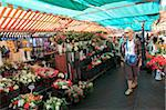 Market at Cours Saleya, Old Town, Nice, Alpes Maritimes, Provence, Cote d'Azur, French Riviera, France, Europe