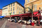 Cafe, Cours Saleya, Old Town, Nice, Alpes Maritimes, Provence, Cote d'Azur, French Riviera, France, Europe Stock Photo - Premium Rights-Managed, Artist: Robert Harding Images, Code: 841-05846752