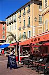 Cafe, Cours Saleya, Old Town, Nice, Alpes Maritimes, Provence, Cote d'Azur, French Riviera, France, Europe Stock Photo - Premium Rights-Managed, Artist: Robert Harding Images, Code: 841-05846753