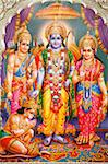 Picture of Hindu gods Laksman, Rama, Sita and Hanuman, India, Asia Stock Photo - Premium Rights-Managed, Artist: Robert Harding Images, Code: 841-05846899