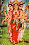 Picture of Hindu goddesses Parvati, Lakshmi and Saraswati, India, Asia Stock Photo - Premium Rights-Managed, Artist: robertharding, Code: 841-05846903