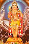 Picture of Hindu god Subramania, India, Asia Stock Photo - Premium Rights-Managed, Artist: Robert Harding Images, Code: 841-05846904