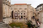 The Peristyle, UNESCO World Heritage Site, Split, region of Dalmatia, Croatia, Europe Stock Photo - Premium Rights-Managed, Artist: Robert Harding Images, Code: 841-05847266