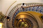 Visitors on  circular stairway, Courtauld Galleries, Somerset House, London, England, United Kingdom, Europe Stock Photo - Premium Rights-Managed, Artist: Robert Harding Images, Code: 841-05847369