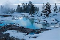 West Thumb Basin winter landscape, Yellowstone National Park, UNESCO World Heritage Site, Wyoming, United States of America, North America Stock Photo - Premium Rights-Managednull, Code: 841-05847775