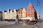 Colourful architecture, Salt Square, Old Town, Wroclaw, Silesia, Poland, Europe Stock Photo - Premium Rights-Managed, Artist: Robert Harding Images, Code: 841-05847982