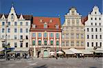 Colourful architecture, Market Square, Old Town, Wroclaw, Silesia, Poland, Europe Stock Photo - Premium Rights-Managed, Artist: Robert Harding Images, Code: 841-05847986