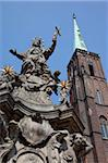 Church of the Holy Cross and statue, Old Town, Wroclaw, Silesia, Poland, Europe Stock Photo - Premium Rights-Managed, Artist: Robert Harding Images, Code: 841-05848000