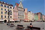 Market Square, Old Town, Wroclaw, Silesia, Poland, Europe Stock Photo - Premium Rights-Managed, Artist: Robert Harding Images, Code: 841-05848004