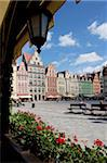 Market Square from cafe, Old Town, Wroclaw, Silesia, Poland, Europe Stock Photo - Premium Rights-Managed, Artist: Robert Harding Images, Code: 841-05848009