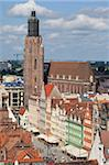 Old Town view from Marii Magdaleny Church, Wroclaw, Silesia, Poland, Europe Stock Photo - Premium Rights-Managed, Artist: Robert Harding Images, Code: 841-05848019