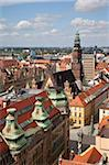 Old Town rooftops viewed from Marii Magdaleny Church, Wroclaw, Silesia, Poland, Europe Stock Photo - Premium Rights-Managed, Artist: Robert Harding Images, Code: 841-05848024