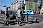 Memorial statues and tram, Old Town, Wroclaw, Silesia, Poland, Europe Stock Photo - Premium Rights-Managed, Artist: Robert Harding Images, Code: 841-05848034