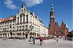 Market Square and Town Hall, Old Town, Wroclaw, Silesia, Poland, Europe Stock Photo - Premium Rights-Managed, Artist: Robert Harding Images, Code: 841-05848058