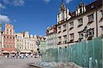 Market Square and fountain, Old Town, Wroclaw, Silesia, Poland, Europe Stock Photo - Premium Rights-Managed, Artist: Robert Harding Images, Code: 841-05848060