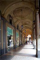 Arcade and shops, Bologna, Emilia-Romagna, Italy, Europe Stock Photo - Premium Rights-Managednull, Code: 841-05848419