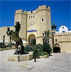 Gateway entrance of the Medina shopping and restaurant complex, Yasmine Hammamet, Cap Bon, Tunisia, North Africa, Africa Stock Photo - Premium Rights-Managed, Artist: Robert Harding Images, Code: 841-05848525