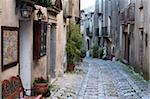 View down narrow cobbled street, Erice, Sicily, Italy, Europe Stock Photo - Premium Rights-Managed, Artist: Robert Harding Images, Code: 841-05848597