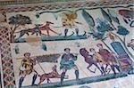 Roman mosaic at Villa Romana del Casale, UNESCO World Heritage Site, Piazza Armerina, Sicily, Italy, Europe Stock Photo - Premium Rights-Managed, Artist: Robert Harding Images, Code: 841-05848615