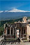 The Greek Amphitheatre and Mount Etna, Taormina, Sicily, Italy, Europe Stock Photo - Premium Rights-Managed, Artist: Robert Harding Images, Code: 841-05848633