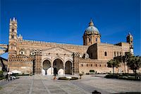 Exterior of the Norman Cattedrale (cathedral), Palermo, Sicily, Italy, Europe Stock Photo - Premium Rights-Managednull, Code: 841-05848659