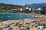 View over beach, Port de Soller, Mallorca (Majorca), Balearic Islands, Spain, Mediterranean, Europe Stock Photo - Premium Rights-Managed, Artist: Robert Harding Images, Code: 841-05848693