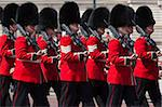 Scots Guards marching past Buckingham Palace, Rehearsal for Trooping the Colour, London, England, United Kingdom, Europe Stock Photo - Premium Rights-Managed, Artist: Robert Harding Images, Code: 841-05848717