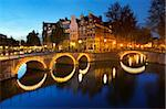 Keizersgracht at night, Amsterdam, North Holland, Netherlands, Europe Stock Photo - Premium Rights-Managed, Artist: Robert Harding Images, Code: 841-05848741