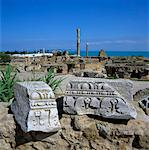 Ruins of ancient Roman baths, Antonine Baths, Carthage, UNESCO World Heritage Site, Tunis, Tunisia, North Africa, Africa Stock Photo - Premium Rights-Managed, Artist: Robert Harding Images, Code: 841-05848759
