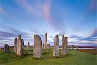 The Lewisian gneiss stone circle at Callanish on an early autumnal morning with clouds forming above, Isle of Lewis, Outer Hebrides, Scotland, United Kingdom, Europe Stock Photo - Premium Rights-Managednull, Code: 841-05848792