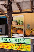 Smoothie Stand, Isla Holbox, Quintana Roo, Mexico Stock Photo - Premium Rights-Managednull, Code: 700-05854902