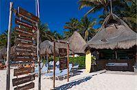 Signs at Hotel Beach, Playa del Carmen, Quintana Roo, Mexico Stock Photo - Premium Rights-Managednull, Code: 700-05855020