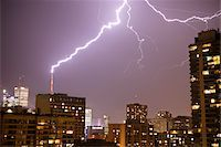 Lightening Striking CN Tower, Toronto, Ontario, Canada Stock Photo - Premium Rights-Managednull, Code: 700-05855064