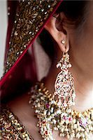 Close-Up of Bride's Earring Stock Photo - Premium Rights-Managednull, Code: 700-05855071