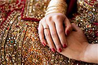 Bride's Folded Hands Stock Photo - Premium Rights-Managednull, Code: 700-05855073
