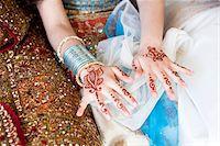Mendhi on Girl's Hands Stock Photo - Premium Rights-Managednull, Code: 700-05855074