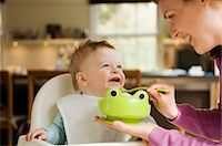 Mother feeding her baby Stock Photo - Premium Royalty-Freenull, Code: 6108-05856026