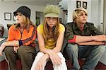 2 teenage girls and 1 teenage boy looking sullen Stock Photo - Premium Royalty-Free, Artist: Uwe Umstätter, Code: 6108-05857755