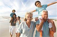 Family on the beach Stock Photo - Premium Royalty-Freenull, Code: 6108-05858260