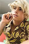Portrait of teen boy using mobile phone Stock Photo - Premium Royalty-Free, Artist: CulturaRM, Code: 6108-05858613