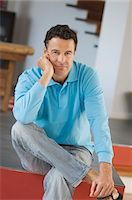 Man sitting, indoors Stock Photo - Premium Royalty-Freenull, Code: 6108-05858883