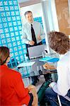 Business people having meeting in office Stock Photo - Premium Royalty-Free, Artist: Science Faction, Code: 6108-05859457