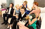 Group of people enjoying a party Stock Photo - Premium Royalty-Free, Artist: RelaXimages, Code: 6108-05860632
