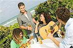 Friends enjoying beer and music on vacations Stock Photo - Premium Royalty-Free, Artist: R. Ian Lloyd, Code: 6108-05863617