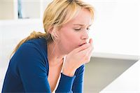 people coughing or sneezing - Close-up of a woman coughing Stock Photo - Premium Royalty-Freenull, Code: 6108-05864270