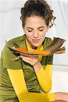 smelly - Close-up of a woman smelling spices Stock Photo - Premium Royalty-Freenull, Code: 6108-05864974